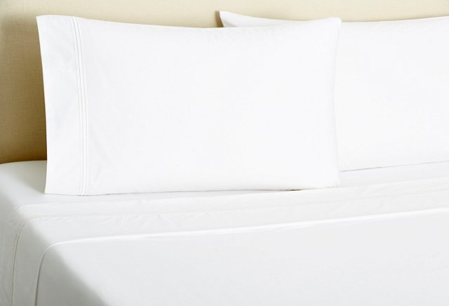 Signature Stripe Sheet Set, White
