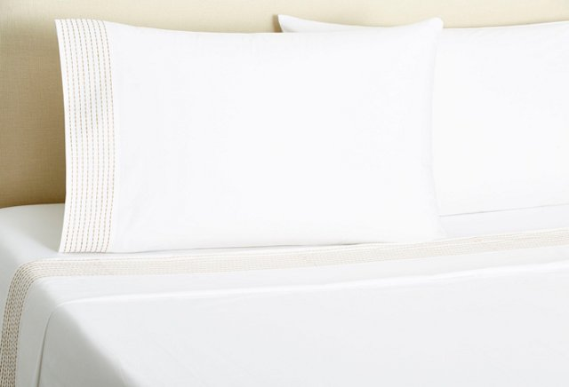 Pick-Stitch Sheet Set, Dune