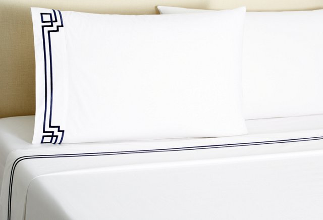 King Corner Key Sheet Set, Navy