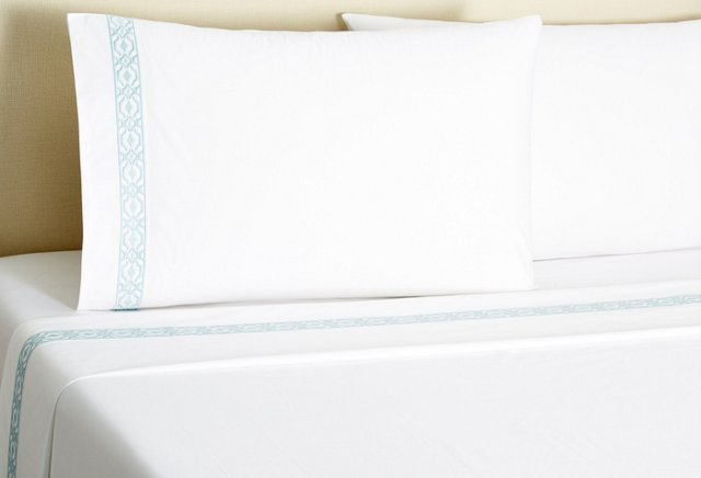 Diamond Scroll Sheet Set, Aegean