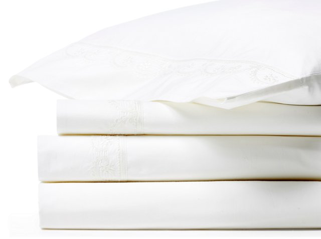 Garland ChainStitch Sheet Set, White