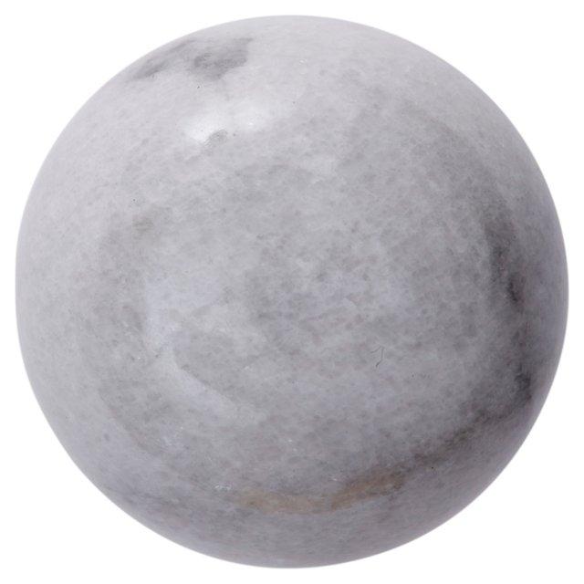 "S/4 Round Marble Knobs, 1.25"""