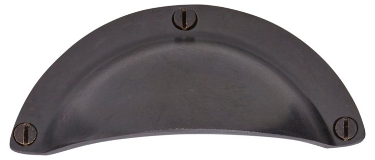 S/4 Smooth Bin Pulls, Bronze