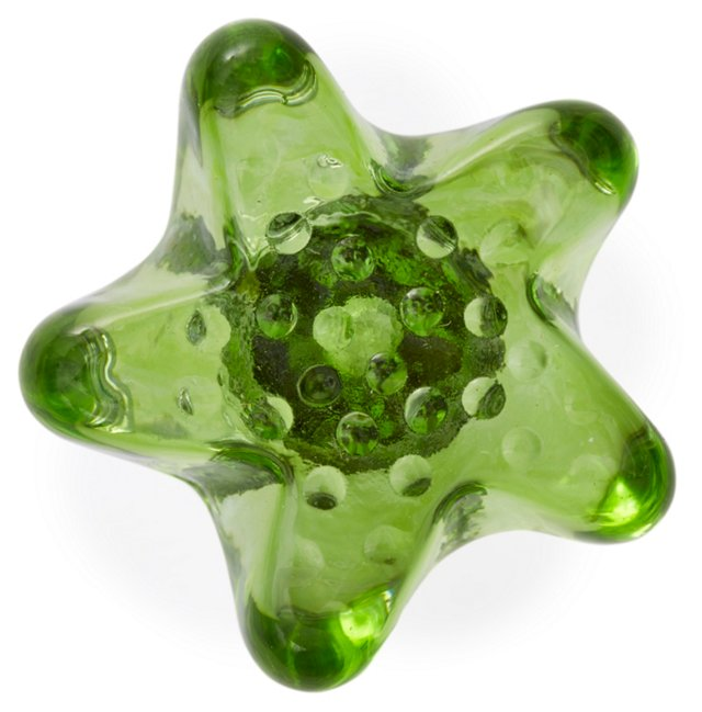 S/2 Artx Glass Knobs, Seafoam Green