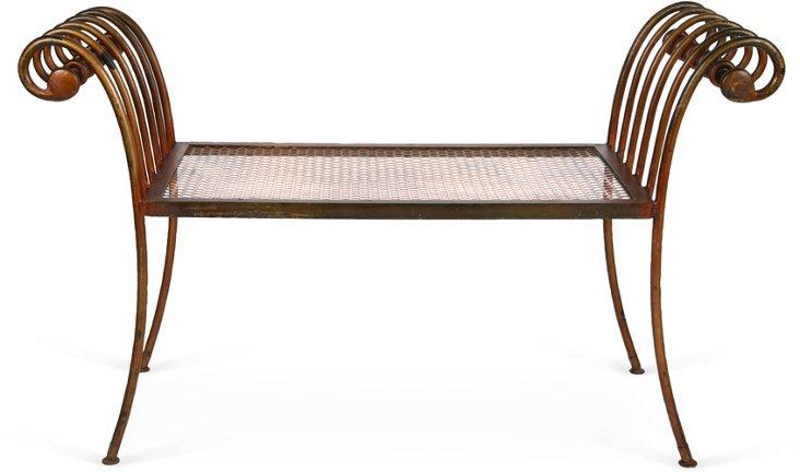 Florentine Gilded Metal Bench