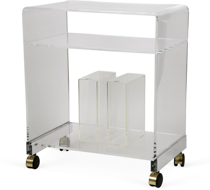 1960s Lucite Bar Cart