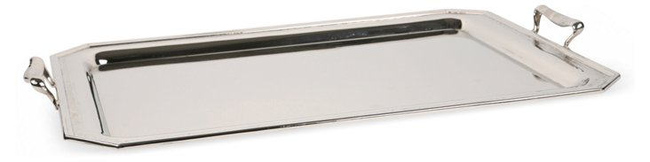 Chrome-Plated Serving Tray