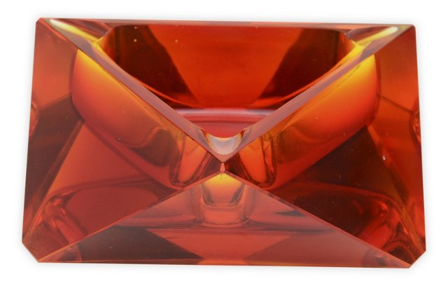 Faceted Murano Glass Dish