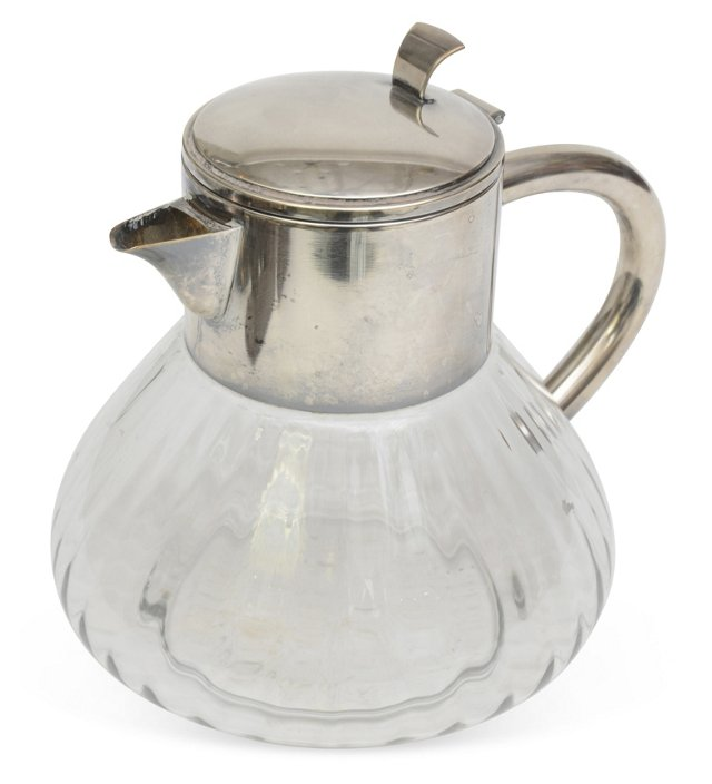 Glass & Silverplate Pitcher