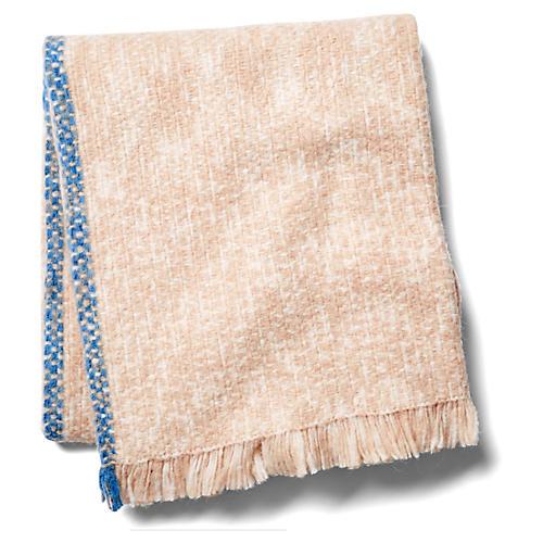 Munay Alpaca Blend Throw, Blue/Pink
