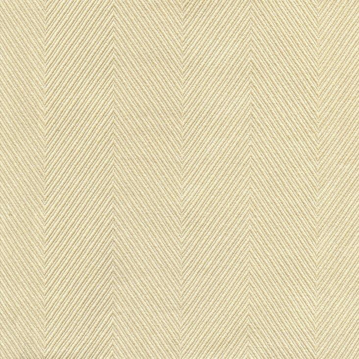 Herringbone Cotton Fabric, Eggshell