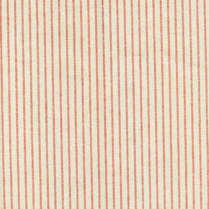 Mini Stripe Cotton Fabric, Red