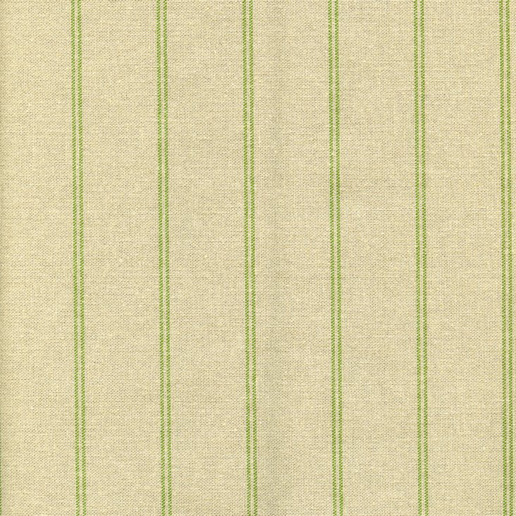 Traditional Stripe Cotton Fabric, Green