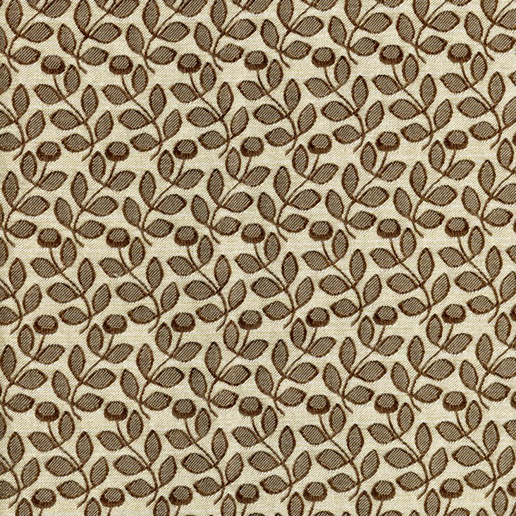 Wild Flowers Fabric, Brown