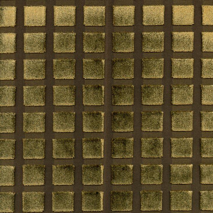 Grid Fabric, Brown/Green