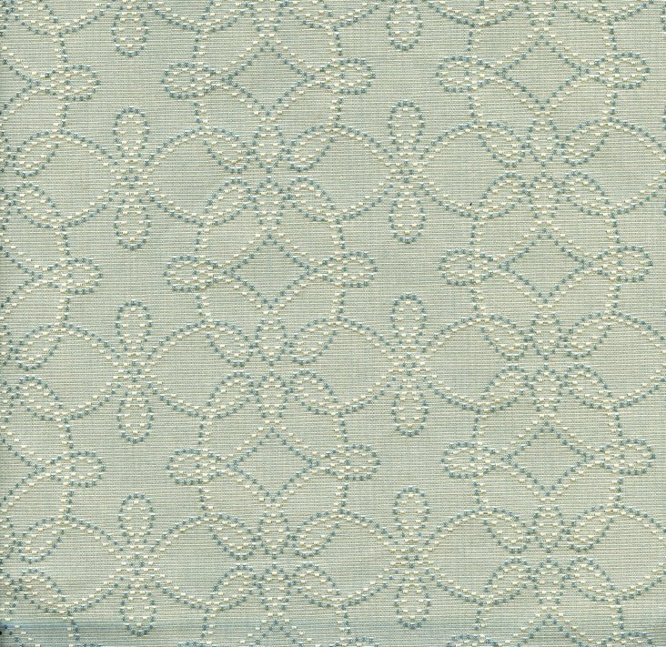Spirograph Fabric, Blue
