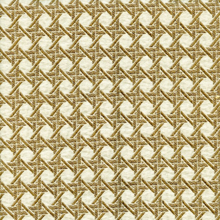 Crosshatch Fabric, Gold
