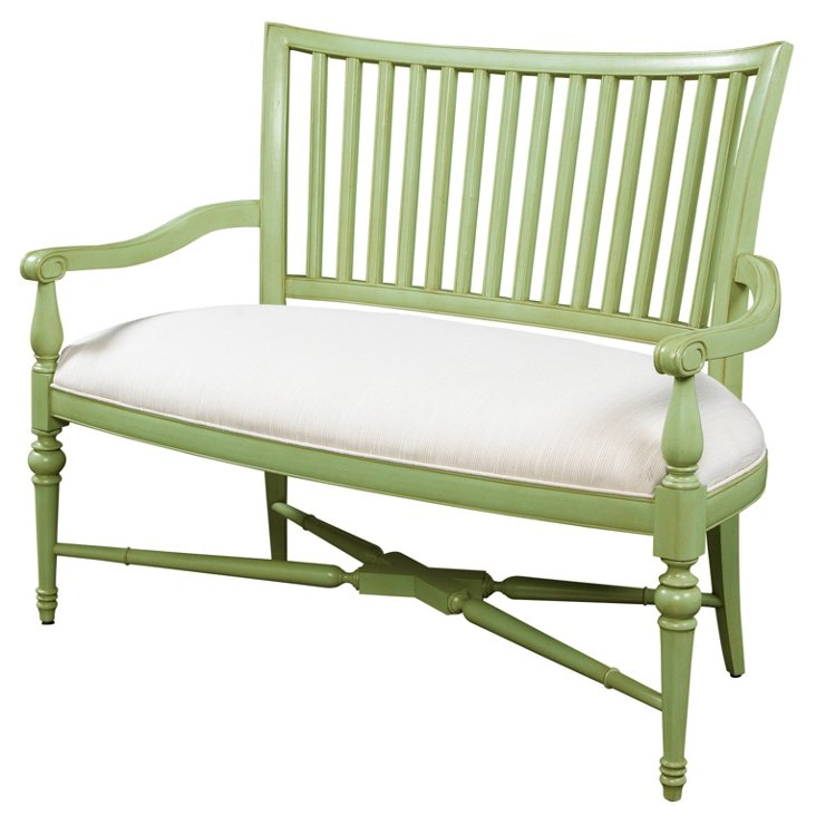 Chandler Settee, Sea Grass