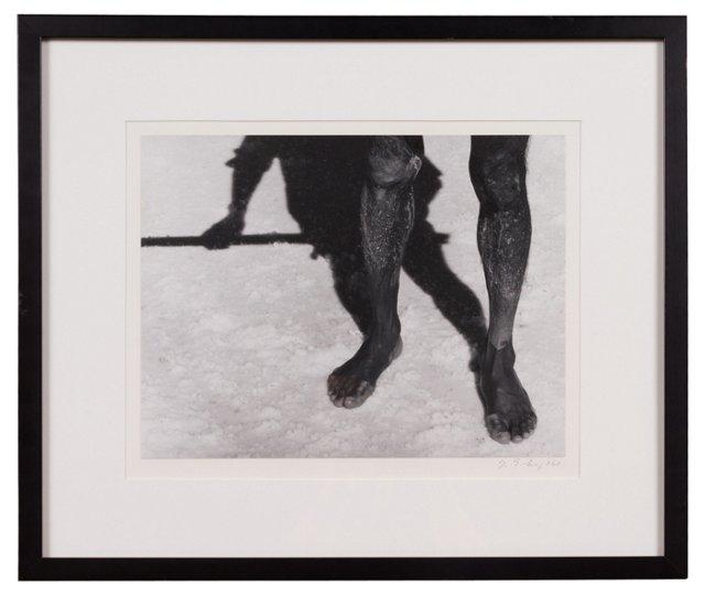 Photograph, African in Salt Field
