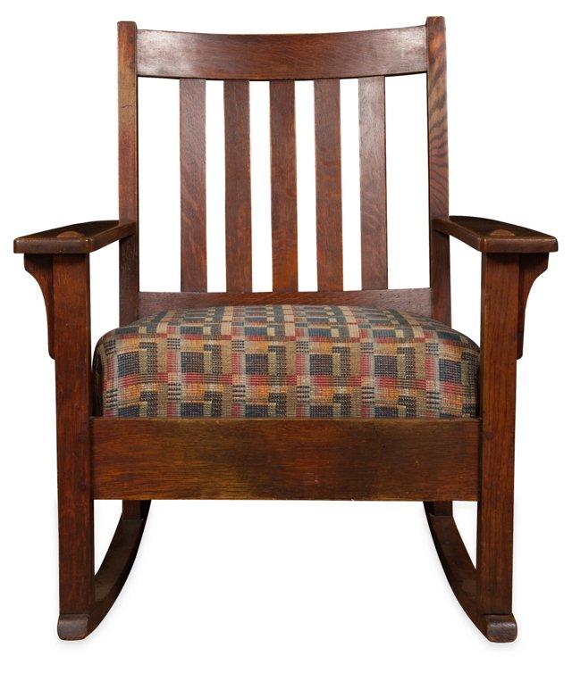 Oak Mission-Style Rocking Chair