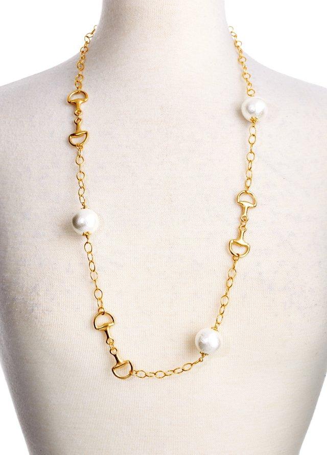 Horse Bits &  Cotton Pearl Necklace