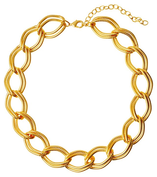 Chunky Gold-Plated Link Necklace