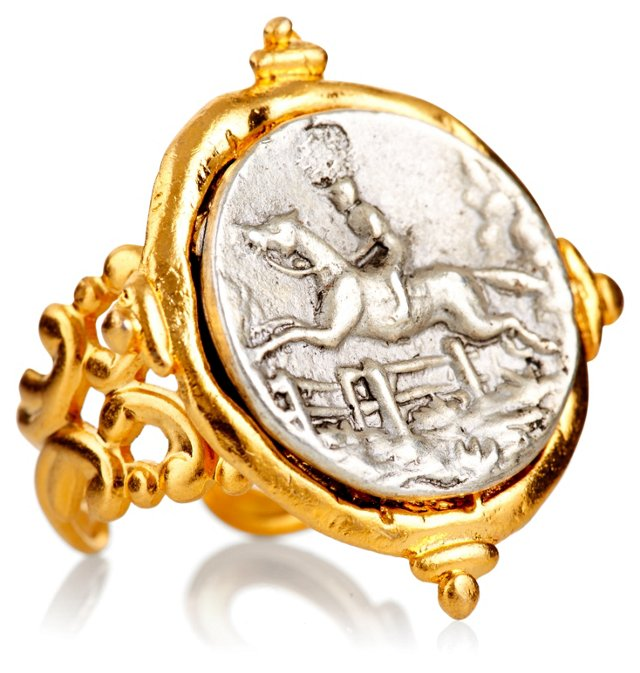 Hand-Cast Two-Tone Equestrian Ring