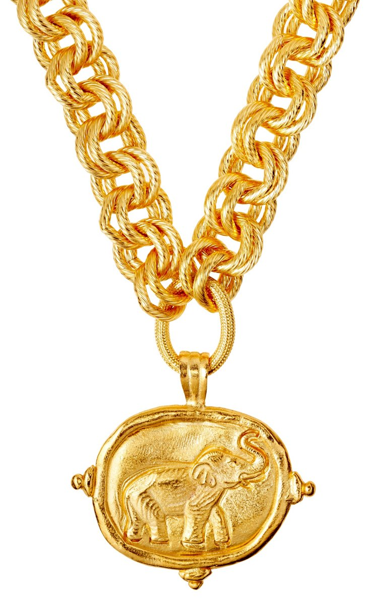 Gold-Plated Elephant Necklace