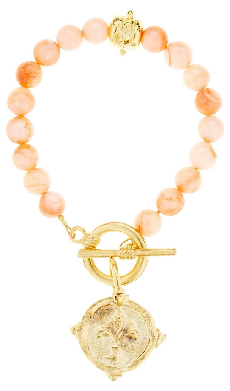Pink Fleur-de-Lis Bracelet