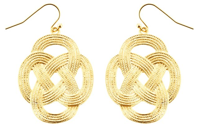 Gold-Plated Love Knot Earrings