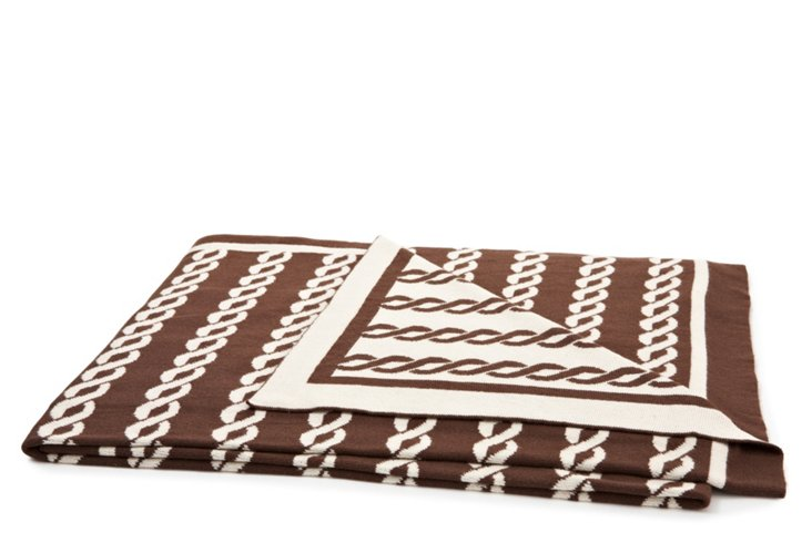 Nautico Throw, Chocolate/Natural