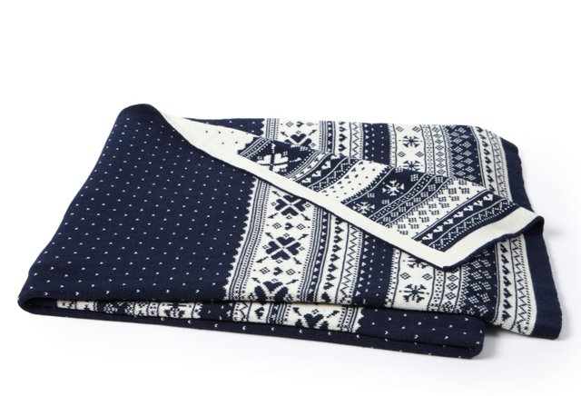 Nordic Throw, Navy