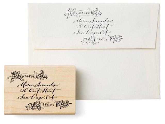 Illustrated Custom Address Stamp