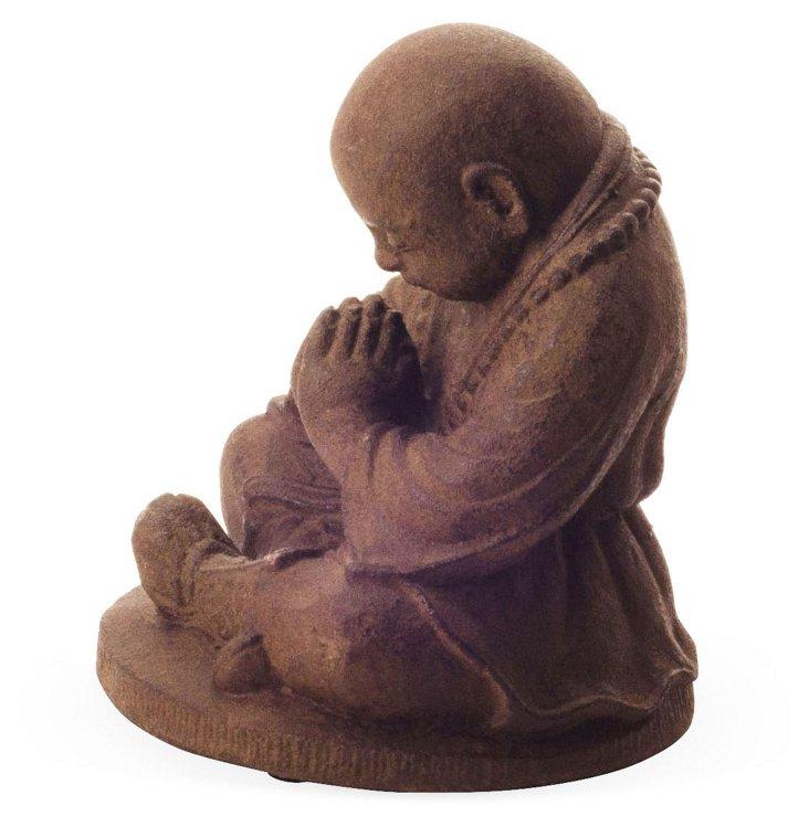 """8"""" Volcanic Ash Praying Monk, Brown"""