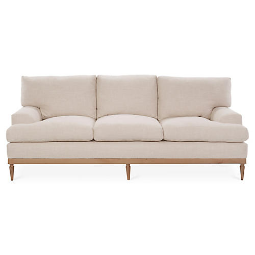 Sutton Sofa, Blush
