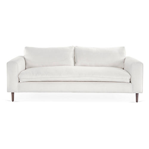 Rumsey Sofa, White Linen