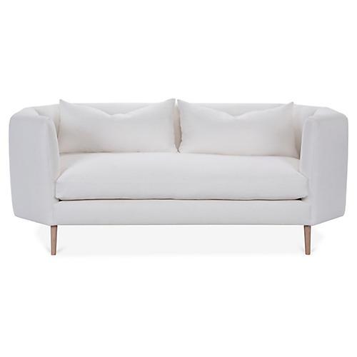Blythe Sofa, White Linen