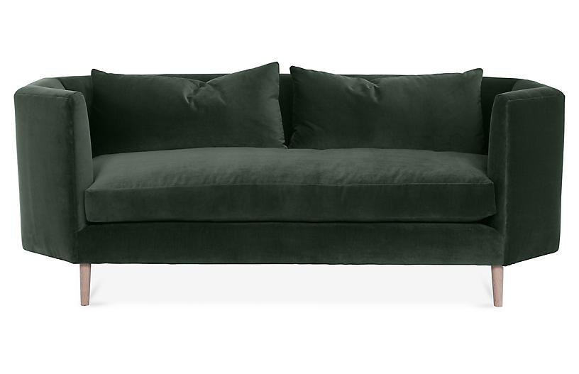Blythe Sofa, Forest Velvet