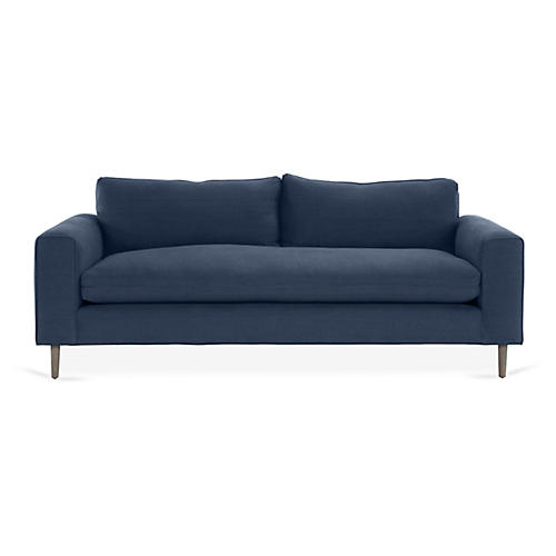 Rumsey Sofa, Navy Linen