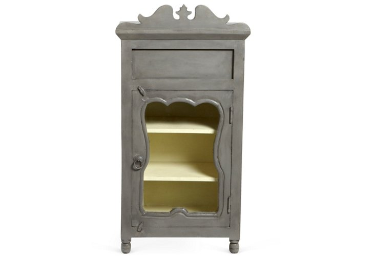 Iris Bedside Table, Gray