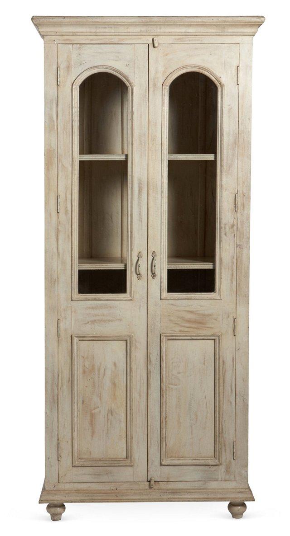 Iris Cabinet, Distressed Ivory