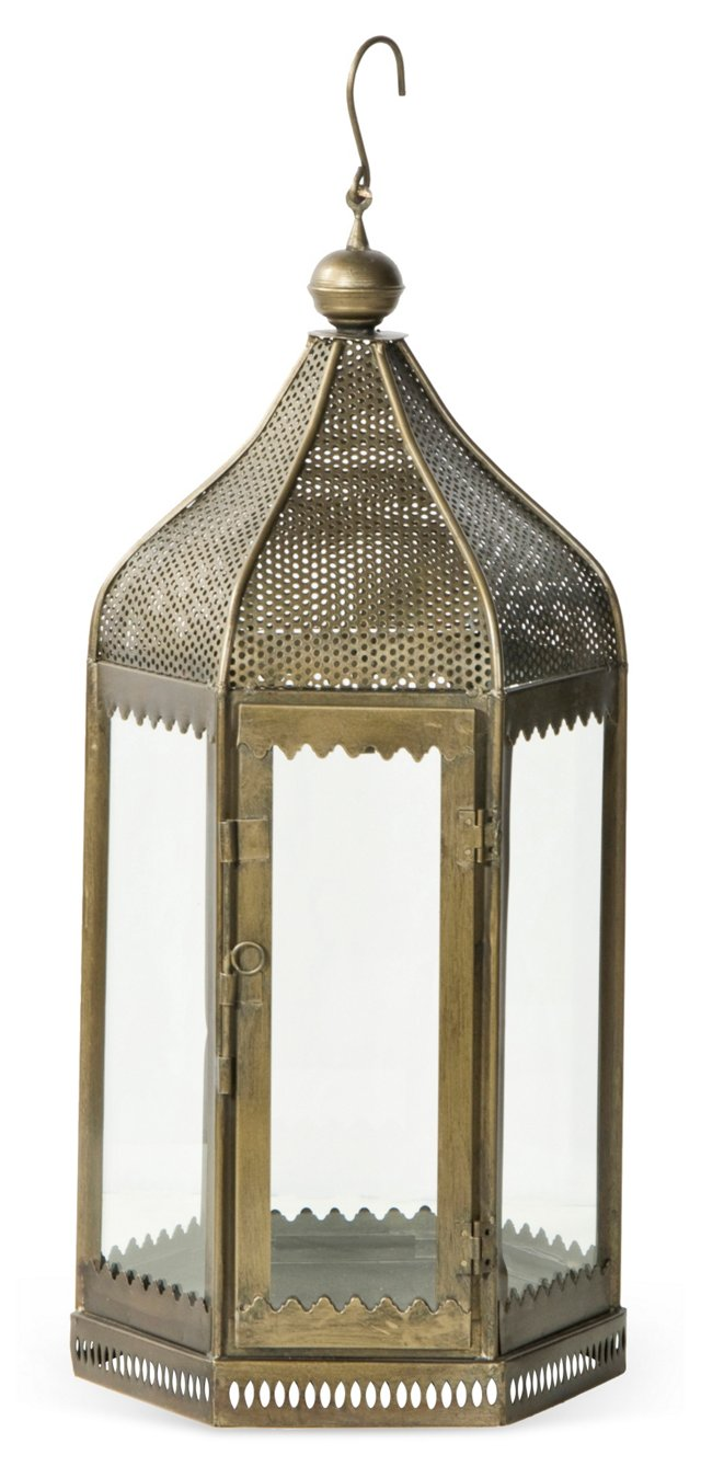 """24"""" Iron and Glass Lantern"""