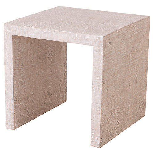 Carmel Side Table, Distressed Natural