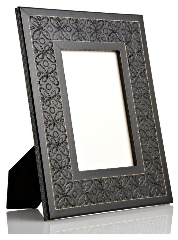 Hand-Carved Flower Frame, 4x6