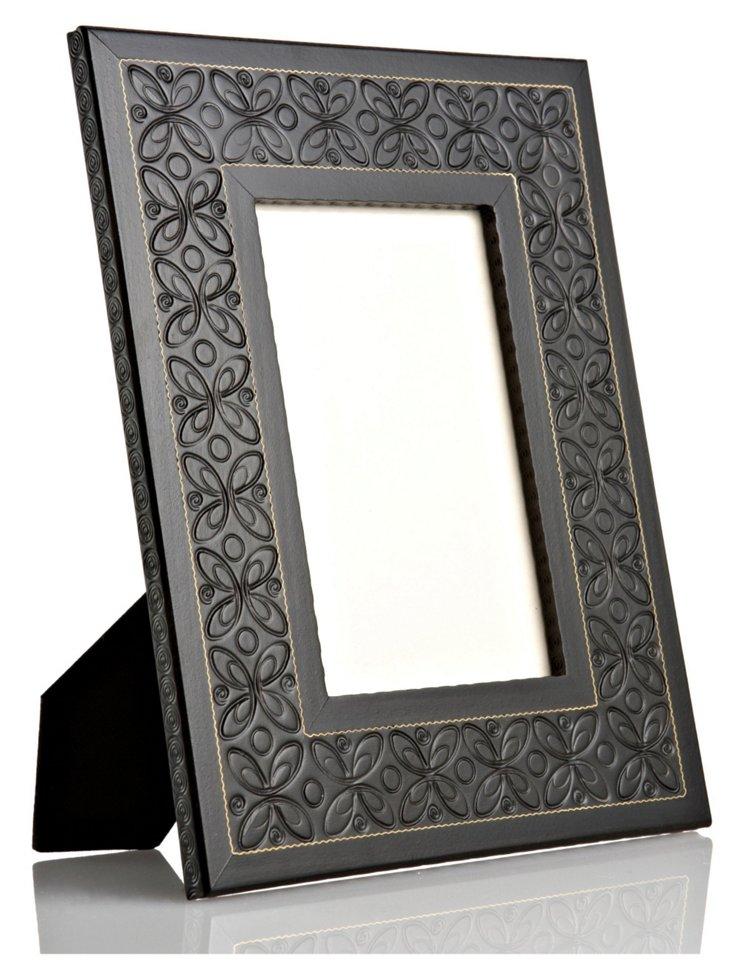 Hand-Carved Flower Frame, 8x10