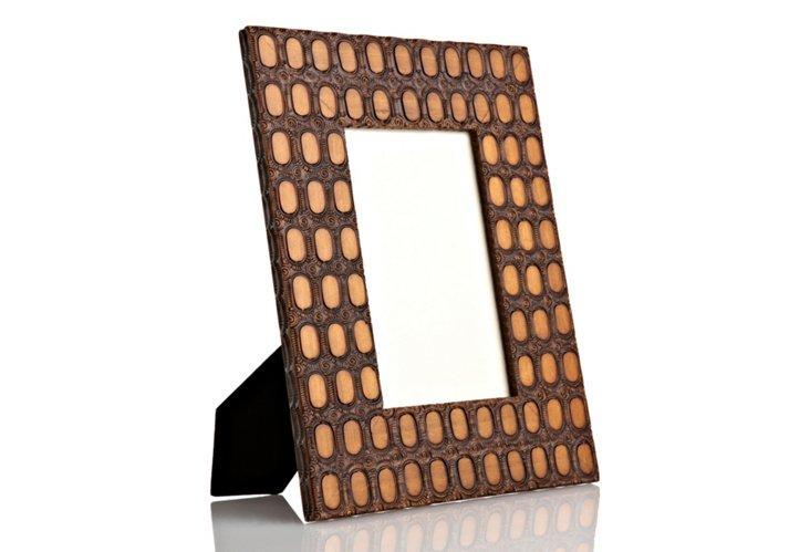 Hand-Carved Oak Ovals Frame, 8x10