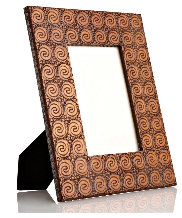 Hand-Carved Snail Frame, 4x6