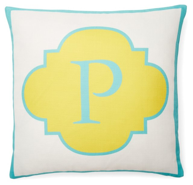 Monogram 20x20 Pillow, Yellow