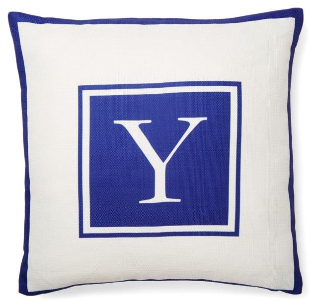 Monogram 20x20 Pillow, Purple