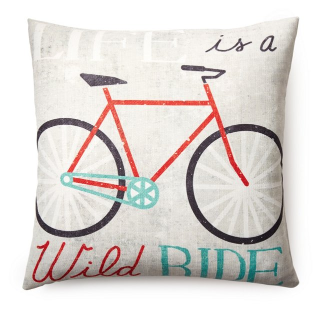 """""""Life is"""" 20x20 Pillow, Multi"""